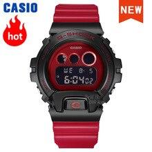 Часы Casio g shock мужские спортивные, Брендовые спортивные наручные, с металлическим корпусом, лимитированная серия, чёрные, золотые