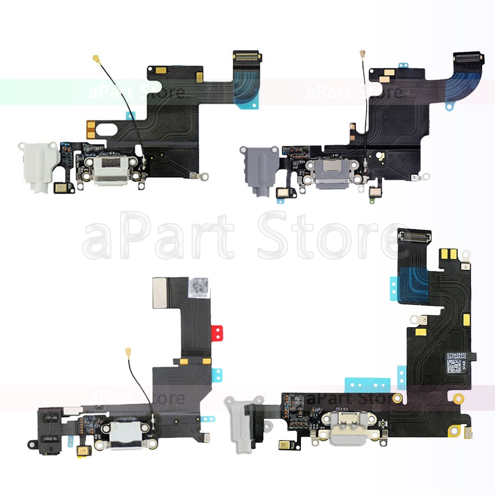 OEM USB Port Charger Connector Dock Charging Flex Cable For IPhone 5S SE 5 6 6s Plus Dock Connector With Mic Flex Free Shipping