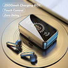 Tws Bluetooth 5.0 Oortelefoon Stereo Sport Waterdichte Bluetooth Draadloze Hoofdtelefoon 2500Mah Opladen Doos Oordopjes Met Microfoon Headset