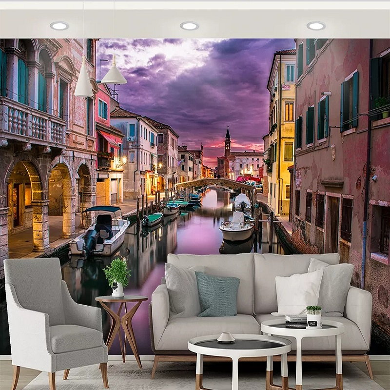Custom Large Mural 3D Wallpaper Stylish Modern Creative Space Expands City Night Scene 06 Living Room TV Wall Decor 5D Embossed