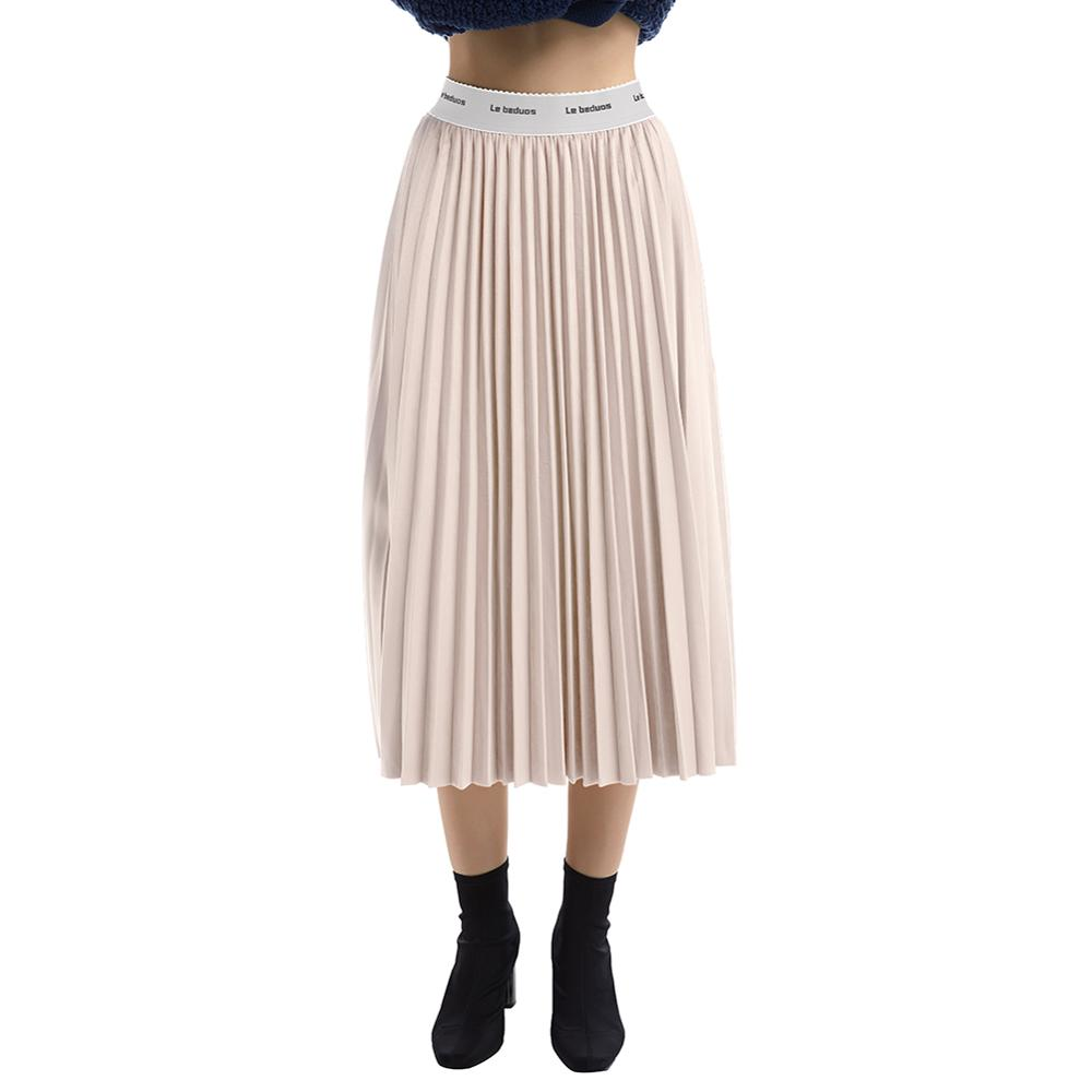 Ladies Long Pleated Skirt High Waist Elastic Casual Party Skirt Fashion Casual Autumn Winte Skirt For Women's