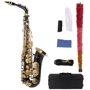 Ammoon Alto Saxophone Woodwind-Instrument Key-Type Flat 82Z Eb Brass Lacquered Gold-E