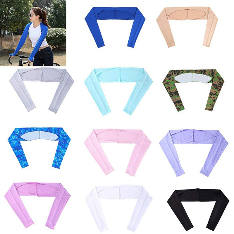 Hard-Working Cooling Shawl Arm Sleeve Non-slip And Breathable Ice Silk Arm Warmers Uv-resistant For Running Cycling Hiking Golf Txtb1 Strong Packing