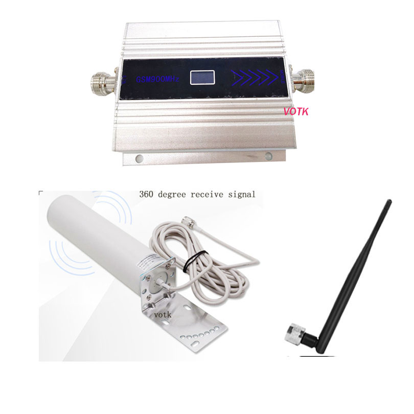 2G Mobile GSM Signal Repeater GSM Signal Booster 900mhz Cellular Signal Amplifier With Omni Outdoor Antenna