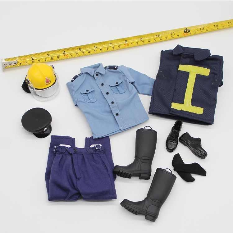 Zapatos De Uniforme Bombero De Hong Kong Conjunto De Camisa Y Pantalones Modelos Para Figuras De Accion De 12 Accesorios Para Cuerpos 1 6 Figuras De Juguete Y Accion Aliexpress
