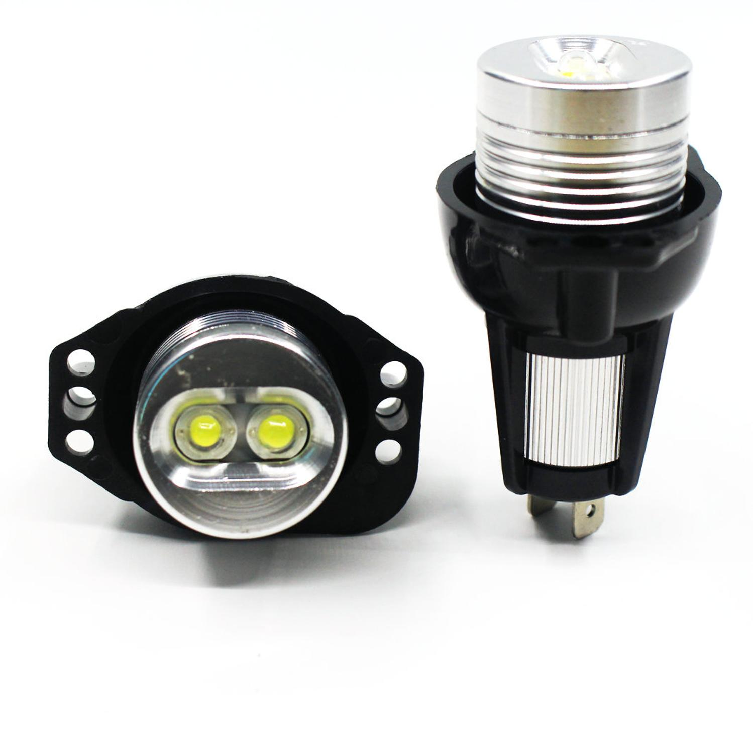 2Pcs 6W 12V LED Angel Eyes Lights Bulbs For BMW E90 E91