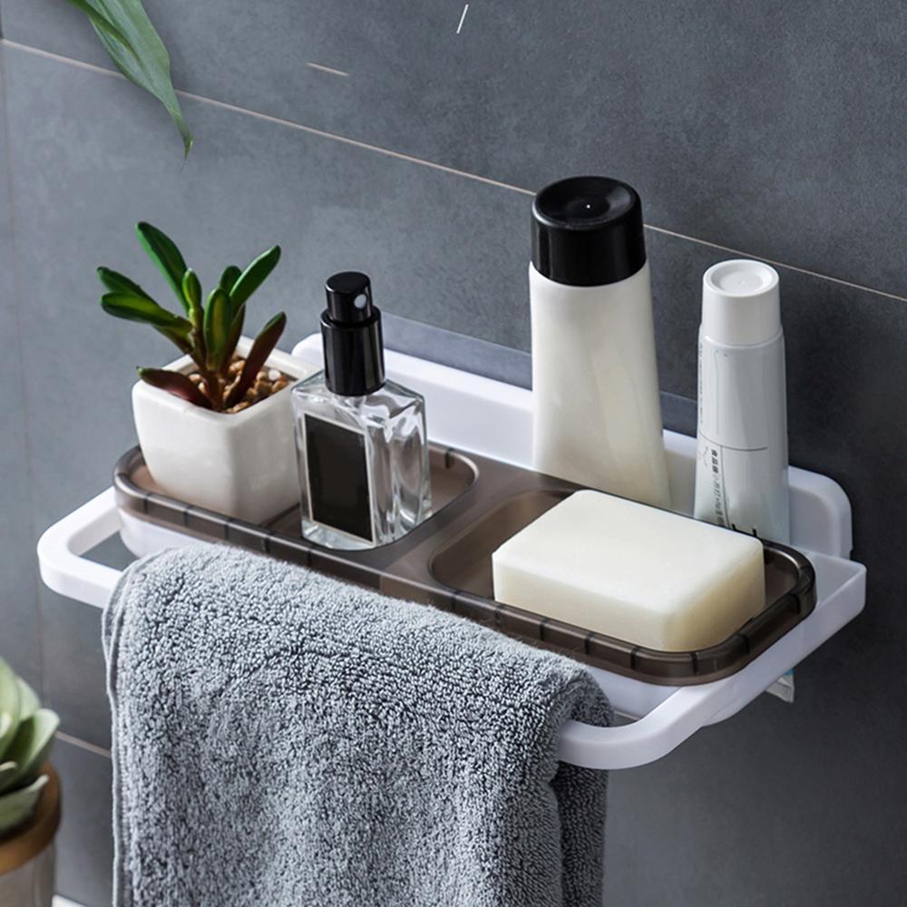 Bathroom Shower Shelf Bathroom Corner Multi-functional Towel Shampoo Tray Bathing Soap Rack Storage Holder Organizer