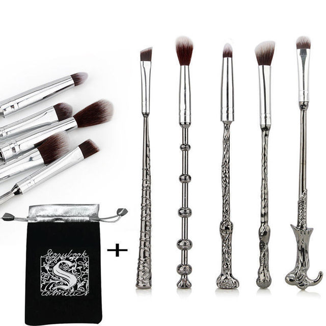 5 Pcs/ Set Makeup Brush Set Wand Eye Shadow Brush Beauty Cosmetics Brush Tool Makeup Set Magical Beauty 5