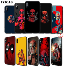 IYICAO Deadpool Marvel Soft Phone Case for iPhone 11 Pro XR X XS Max 6 6S 7 8 Plus 5 5S SE Silicone TPU