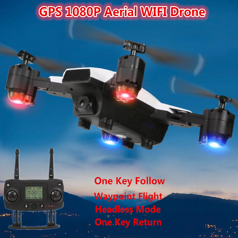 WiFi FPV 5G RC RC Helicopter GPS Follow Me Drone 1080P HD Camera Dual Mode Positioning Waypoint Headless RC Foldable Quadcopter image