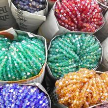 4 мм 110 шт AB цвета Биконусы свободные разделительные Бусины Стеклянные Хрустальные Граненые Круглые бусины для изготовления ювелирных изделий
