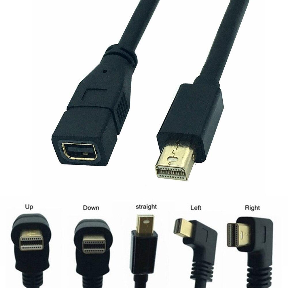 Direito Angular 2 Thunderbolt para Thunderbolt 2 90 Grau cabo mini displayport Macho para Fêmea adaptador conversor 0.3m