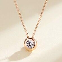 BOEYCJR 925 srebrny 0.6ct F kolor Moissanite VVS zaręczyny elegancki ślub Bubble naszyjnik dla kobiet prezent na rocznicę