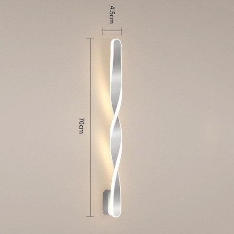 wecus designer especial 70cm lampadas parede led