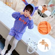 Hoodies for girls Rabbit Hoodies Children's clothing sports