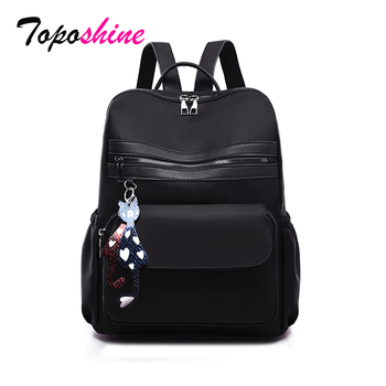 2019 New Oxford Women Backpacks Fashion Ladies School Black Color Girls for women Buy 1 Get 2 Promotion Bags
