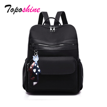 Simple and stylish Oxford Women Backpacks Fashion School Ladies Black Color Girls for women Drop Ship