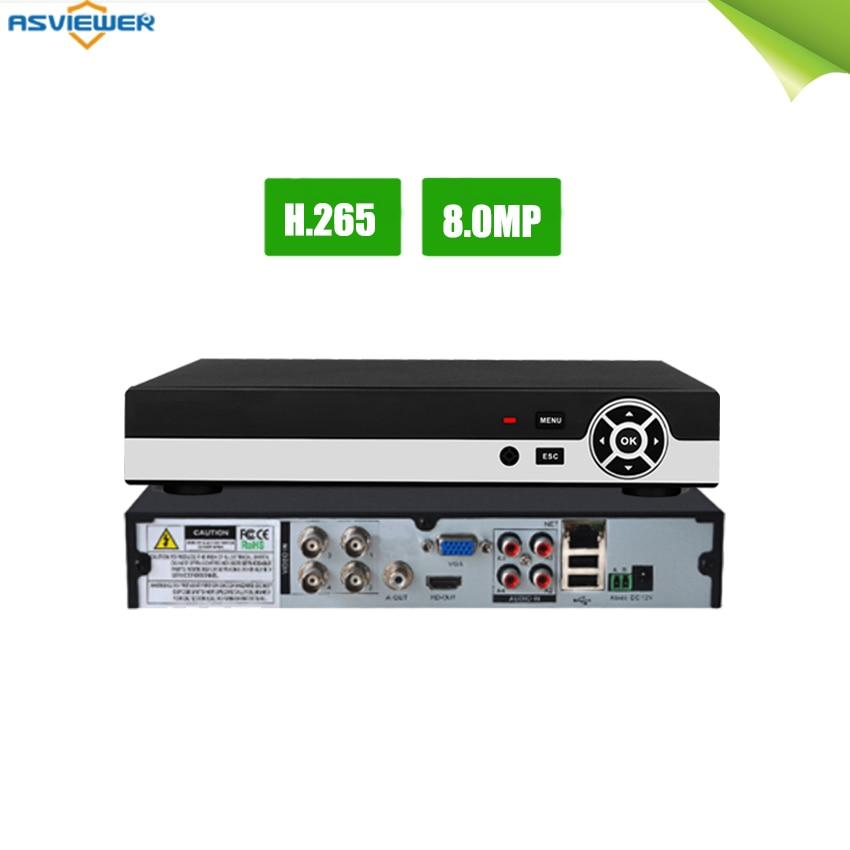 H.265 5 in 1 Sicherheit CCTV DVR 4CH AHD 4K 8MP 5MP Hybrid Video Recorder für AHD TVI CVI analog IP Kamera Onvif AS-AVR5504H-265