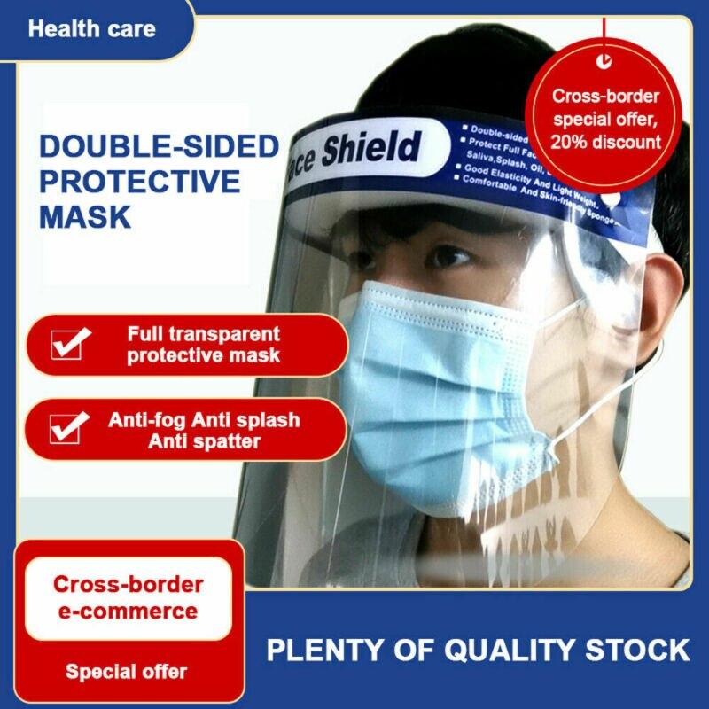 Fashion Unisex Solid Anti-fog Anti-bacteria Empty Top Cap Clear Full Face Splash-proof Face Protective Face Hat Cap