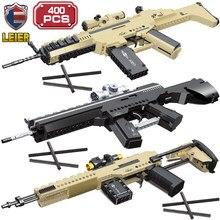 Leier Creator uzman silahlar yapı taşları yüksek teknoloji Moc otomatik tüfek M416 tuğla askeri oyunları oyuncaklar çocuklar için
