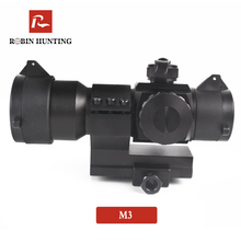 Robin Hunting M3 Tactical Optical Sight Scope Holographic Red Green Dot Reticle Collimator Sight Hunting Riflescope For Airgun tactical 4 12x50eg scope riflescope air rifle optics red green illuminated sight scope w holographic 4 reticle sight