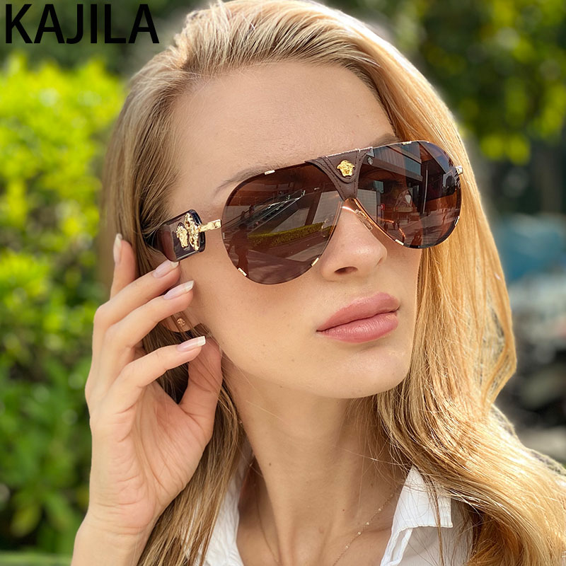 Oval Sunglasses Women 2020New Arrival Wholesale Fashionable Metal Leather Decorative Brand Designer Sun Glasses For Woman Oculos