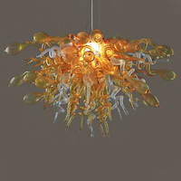 Contemporary Murano Glass Chandelier Lamps Copper Crystal Chandelier Lighting and Dining Room Luxury Gold Lustre Kitchen Room