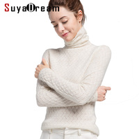 Women Wool Pullover 100%Cashmere Sweater For Women Computer Knits 2019 Fall Winter Sweaters Bottoming Knitwear
