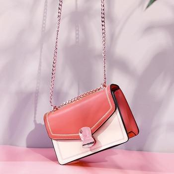 Small Bag Lady on 2019 Chain Single Shoulder Version Fashion Oblique Satchel