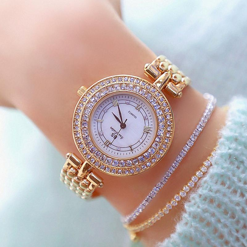 Exquisite Watches Women Top Brand Luxury Diamond Watch Women Fashion Relojes Mujer Stainless Steel Ladies Quartz Wrist Watches
