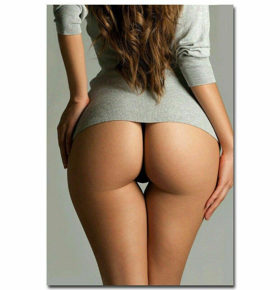 A196 Motivational Hot Butt Sexy Girl Big Ass Model Woman Wall