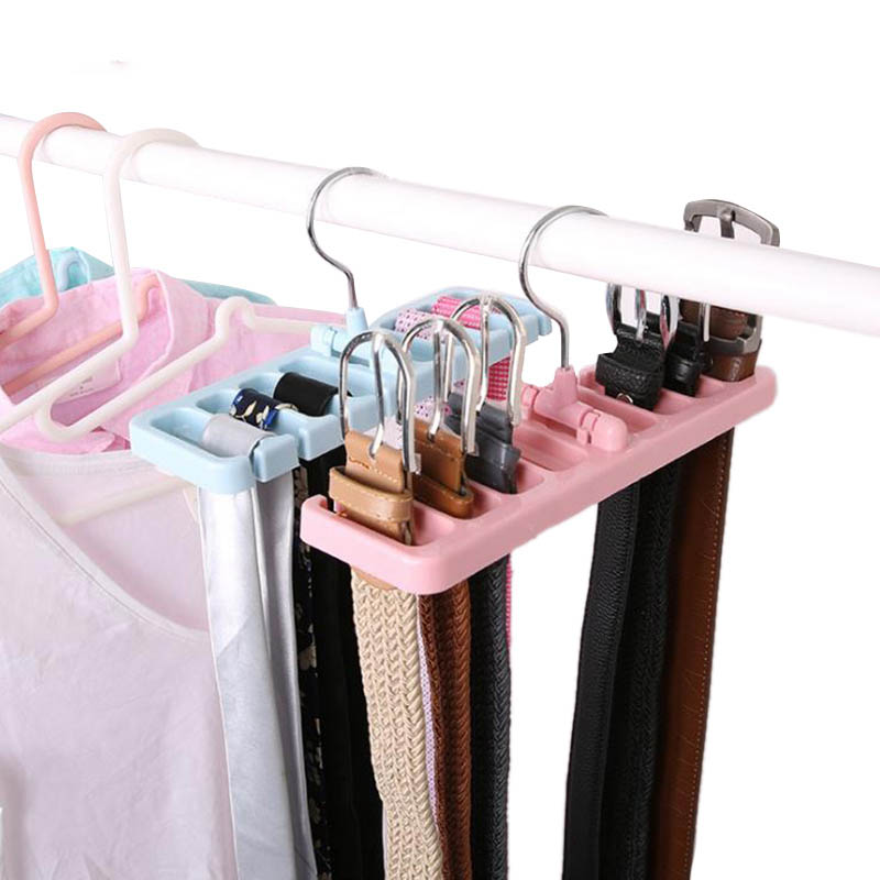 Plastic Storage Rack Tie Belt Closet Organizer Rotating Ties Scarf Hanger Holder Wardrobe Finishing Rack Space Saver