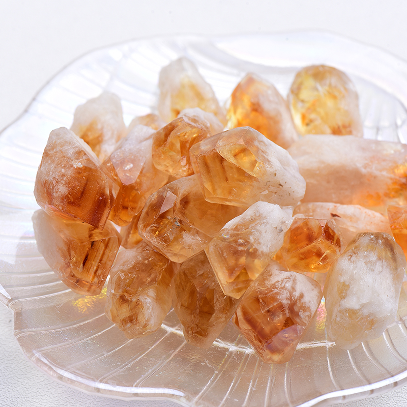 20/50g Natural Brazil Citrine Ore crystal Repair Rock Mineral Specimen Collection Home decoration and DIY gifts fish tank stone