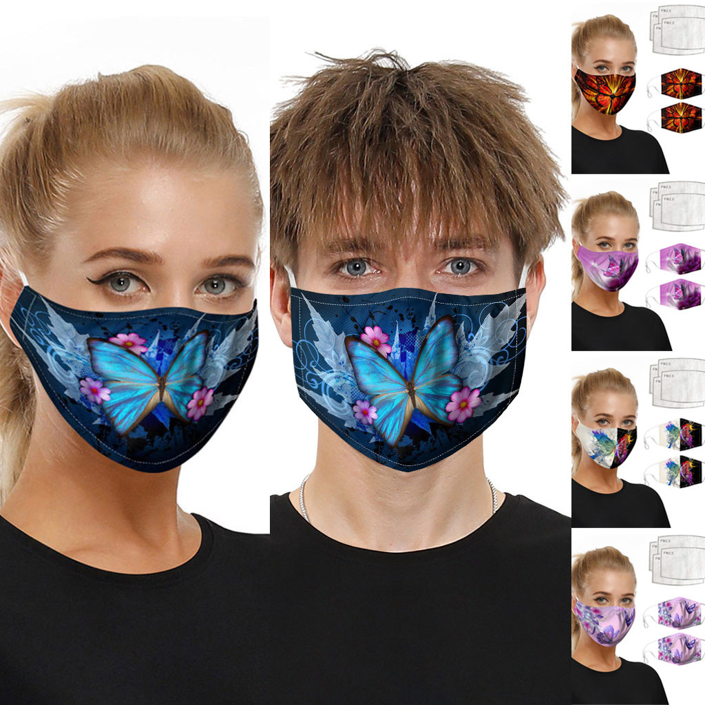 Reusable Breathable Mouth Masks Face Shiled Universal Dust-proof Smog-washable Mask Washable For Adults In Europe And America