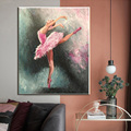 Абстрактная портретная масляная живопись балерины на холсте художественные плакаты и принты, скандинавский холст, Настенная картина для г...
