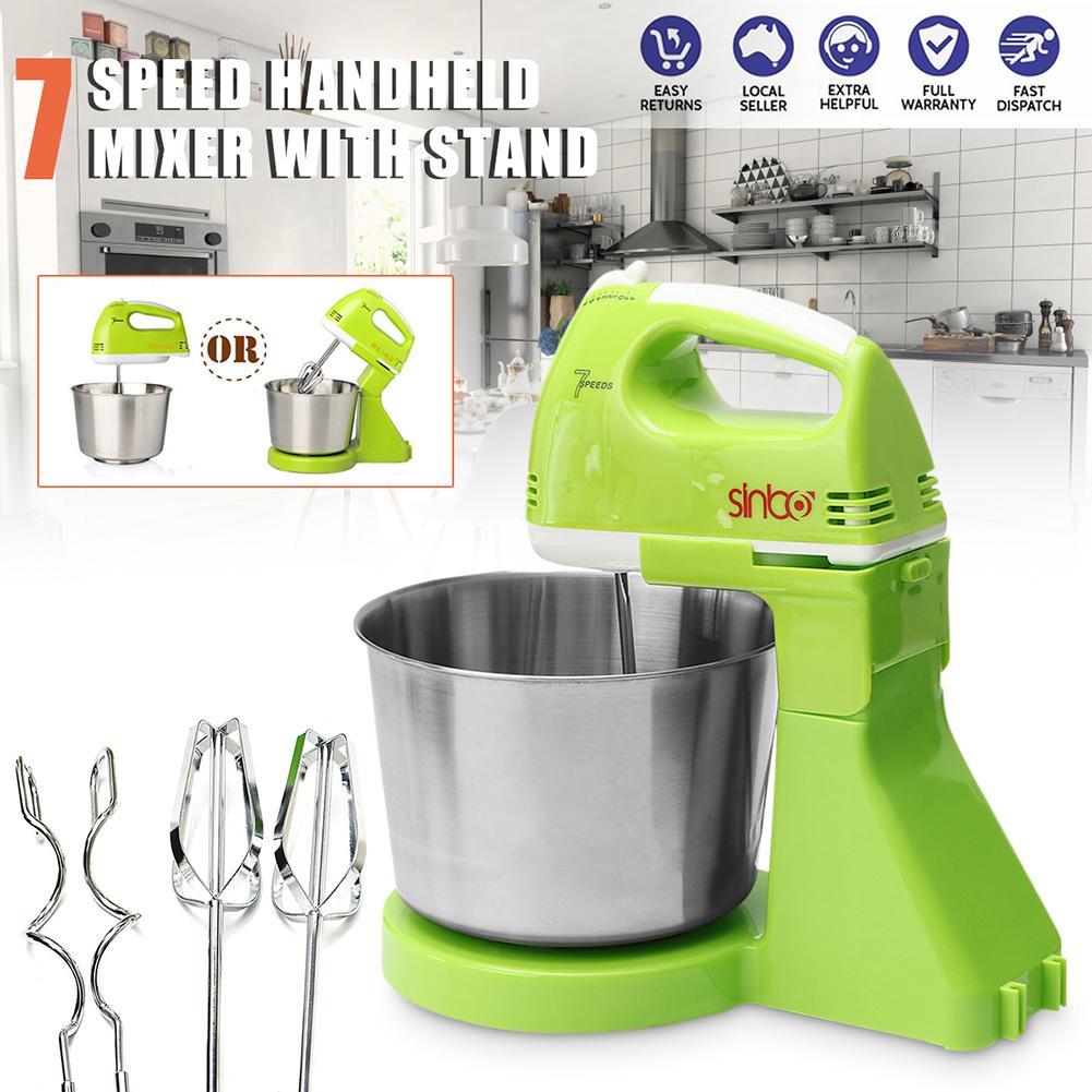 Uni Eropa Plug 7 Listrik Kecepatan Makanan Kue Adonan Telur Blender Genggam Stand Mixer Dapur Rumah Tepung Telur Pemukul Gadget 1.7L Mangkuk