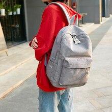 Women Backpack Corduroy Design School Backpacks For Teenage Girls School Bag Striped Rucksack Travel Bags Soulder Bag Mochila