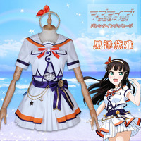 Anime cosplay Love live Aqours Kurosawa Dia 6th anniversary party costume lolita sailor suit A
