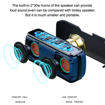 XDOBO X8 60W Portable bluetooth speakers with subwoofer wireless IPX5 Waterproof TWS 15H playing time Voice Assistant Extra bass 2