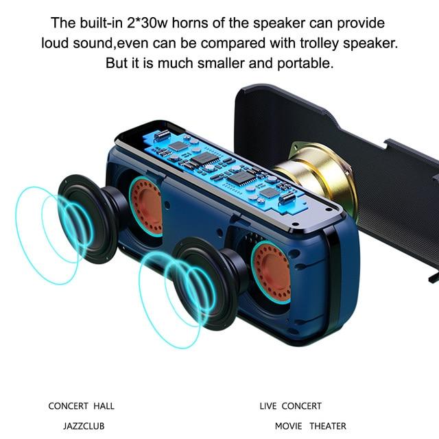 Портативная bluetooth-колонка XDOBO X8, 60 Вт.