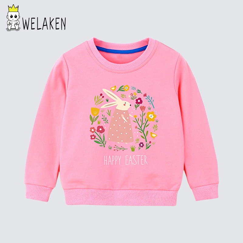 Clothing Sweatshirt Children's Cartoon Fall And Welaken Casual Tops Spring O-Neck Daily