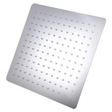 12インチのシャワーヘッド正方形のステンレス鋼超薄型シャワーノズル降雨バスルーム · ファミリーパック壁マウント屋根