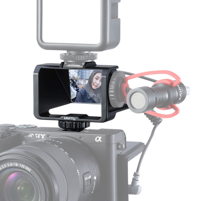 UURig R031 Camera Vlog Selfie Flip Screen Bracket For Mirrorless Camera Periscope Solution For Sony A6000 A6300 A6500 A72 A73 A7