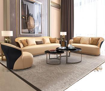 living room Sofa set диван мебель кровать muebles de sala chesterfield 1+2+3 seater genuine leather sofa cama puff asiento