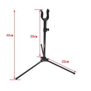 Image 4 - Tir à larc Recurve support darc en métal pur portable pliable Recurve support darc en plein air chasse tir à larc et flèche accessoires
