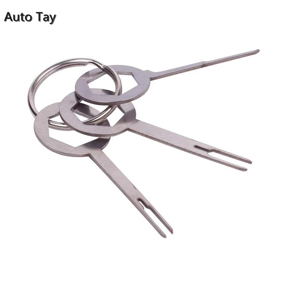 3pcs/set Car Terminal Removal Tool Kit Automotive Pin Extractor Plug Auto Repair Tool Harness Wire Crimp Puller Remove Tool