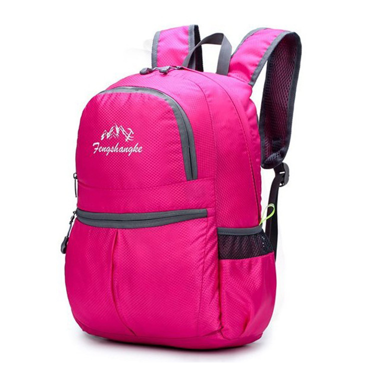 New Style Folding Backpack Waterproof Nylon Backpack Mountaineering Bag Outdoor Sports Backpack Customizable Logo