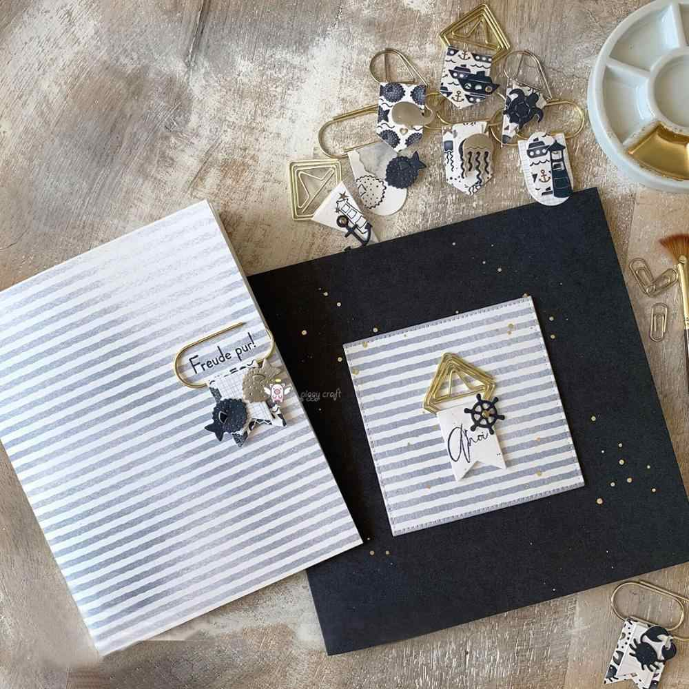 Hucha artesanal troquelado de metal molde de troquelado océano barco animal planta shell álbum de recortes de papel artesanal cuchillo molde hoja perforadora plantillas