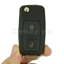 Flip car remote key for VW for Volkswagen Golf Lupo Passat Polo 2 button 1J0 959 753 N ID48 chip 433 Mhz remotekey наклейки 1 1j0 601 171 vw volkswagen jetta citi lupo passat vento mk4