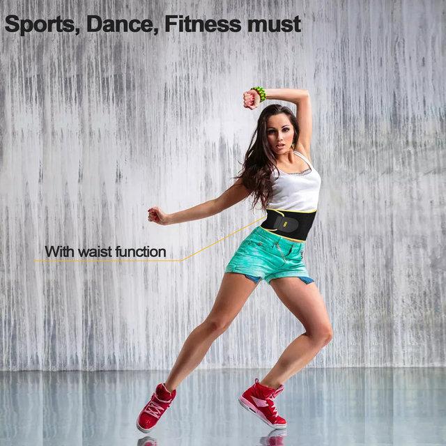 Women Waist Trimmer Belt Neoprene Waist Sweat Band for Slimmer Water Weight Loss Mobile Sauna Belts Strengthen Tummy